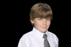 Child portrait with dress shirt and necktie Royalty Free Stock Images