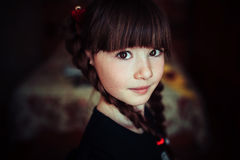 Child portrait. Expressive eyes of a little girl Royalty Free Stock Image