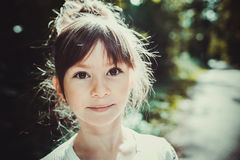 Child portrait. Expressive eyes of a little girl Stock Photos