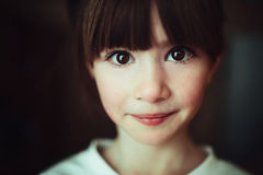 Child portrait. Expressive eyes of a little girl Royalty Free Stock Images