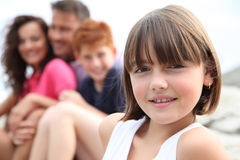 Child portrait in family vacation Royalty Free Stock Image