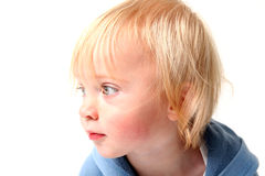Child portrait isolated scandinavian stock photo