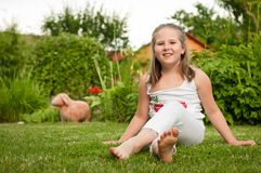 Child portrait - outdoors Royalty Free Stock Images