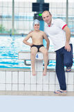 Child portrait on swimming pool Stock Photography