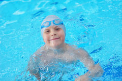 Child portrait on swimming pool Royalty Free Stock Images