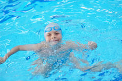 Child portrait on swimming pool Royalty Free Stock Photo