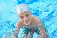 Child portrait on swimming pool Stock Photo