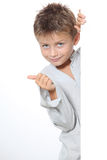 Child portrait with thumb up Royalty Free Stock Photo