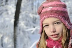 Child portrait in winter Stock Photo