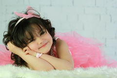Child posing. Adorable child posing in a studio portrait Royalty Free Stock Image