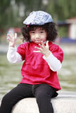 Child posing outdoor royalty free stock image