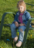 Child pouting Royalty Free Stock Photos