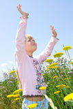Child praising. Stock Photo