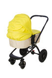 Child pram isolated on the white background Stock Photography