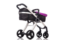 The child pram isolated on the white background Stock Images