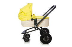 The child pram isolated on the white background Royalty Free Stock Images
