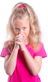 Child praying Royalty Free Stock Image