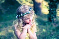 Child praying royalty free stock photo