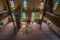 Interior view of Artin, Macahel, Camili Camii(mosque) Royalty Free Stock Photo
