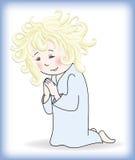 Child prays to God Stock Image