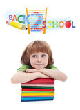 Child preparing for elementary school Royalty Free Stock Photo