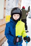 Child preparing for skiing. Stock Photography