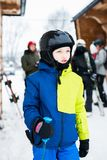 Child preparing for skiing. Stock Images