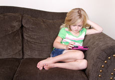 Child or preschooler using a tablet Royalty Free Stock Photography