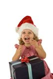 Child with present Royalty Free Stock Photography