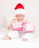 Child with presents Stock Image