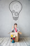 Child pretend to be businessman Royalty Free Stock Photos