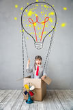 Child pretend to be businessman stock photography