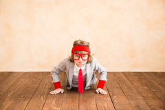 Child pretend to be businessman Stock Images