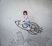 Child pretend to be businessman Royalty Free Stock Photo