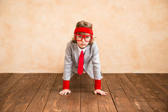 Child pretend to be businessman Royalty Free Stock Photography