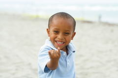 Child Pretending to be Spiderman Royalty Free Stock Images