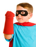Child pretending to be a superhero Royalty Free Stock Photos