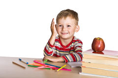 Child in primary school Royalty Free Stock Image