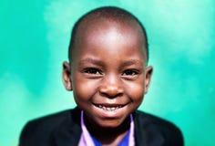 Child in school in Uganda royalty free stock photo