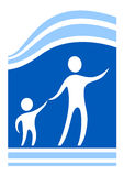 Child protect symbol Royalty Free Stock Photo