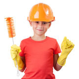 Child in a protective helmet Royalty Free Stock Photo