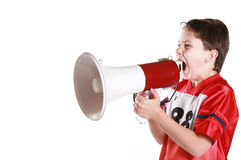 Child protesting Stock Photo