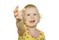 Child pulls hand Stock Image