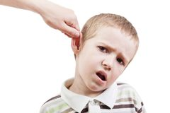 Child punishment Stock Photo