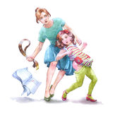 Child punishment Stock Photography