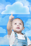 Child is push button Stock Images