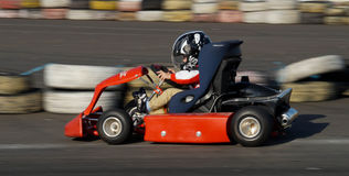 Child racer Royalty Free Stock Photography