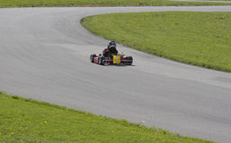 Child Racing Go Kart Royalty Free Stock Photo