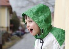 Child in rain Royalty Free Stock Photo