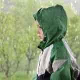 Child in rain Stock Photography